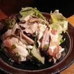 きんぎょ - 豆腐とキノコのサラダ