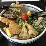 本場讃岐うどん むら泉 - 料理写真:野菜天ぷらうどん冷