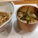 別邸 三く 中華㐂蕎麦 萃 - メバチマグロまぜそば-〆飯