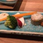 93079765 - パルミジャーノinキムチのテリーヌ                        チーズのバーニャカウダ
