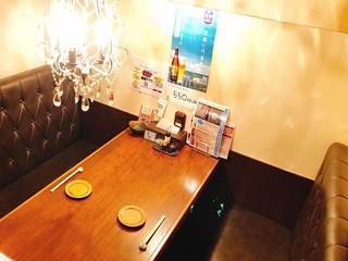 もつ鍋 亀八別館 - こちらは個室のお席です!!大切な時間をお過ごしください・・・