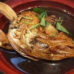 天然魚 鯛平 - ランチに付いてる赤出汁
