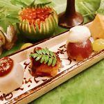Kojyu - 里芋の大ぶりな葉の上に色とりどりの美しさ♡