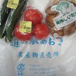 道の駅 あおき 農産物直売所 - 購入した商品(一部)