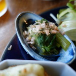 シェルタークコ カフェ&ギャラリー - 小松菜のお浸し