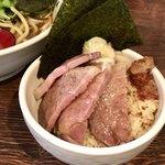 自家製麺 麺屋 利八 - 「ちゃーしゅーごはん」(350円)