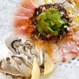 北海道産の生牡蠣&北海道直送の鮮魚を豊富に取り揃え!