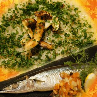 秋の旬メニューが新登場!メインは秋刀魚と松茸!
