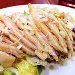 紅郷 - ランチの蒸し鶏 これに卵スープとザーサイ、大盛りご飯がセット