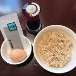 ホテルクラビーサッポロ - 卵かけご飯玄米