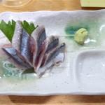 立呑み 得一  - 秋刀魚のお造り