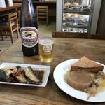 大衆食堂 山田屋 - おつまみに2品とビールをいただきます(2018.9.21)