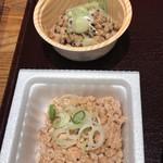 納豆工房せんだい屋 - 胡麻納豆とひきわり納豆