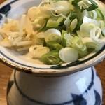93106872 - つけ麺のスープ割&薬味(ネギ、生姜)