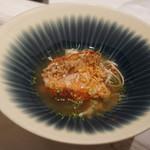ete - クジのうろこぱりぱり焼き、岩手松茸スープ、蟹