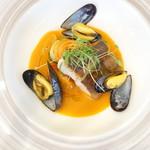 キュイジーヌ・フランセーズ・サンセリテ - 料理写真:アイナメとムール貝