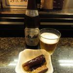 直寿司 - 瓶ビールとお通し