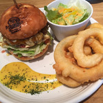 The Burger Stand N's - テリヤキチーズバーガー(1,220円 税込) のランチセット