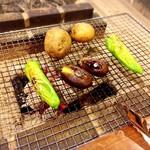 囲炉裏料理わ - 下田ナス、唐辛子の美味しかったこと*✧:.(⁰▿⁰)