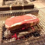 囲炉裏料理わ - 安定の近江大中牛!
