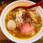 鶉 - 料理写真:味噌ラーメン、ツイッター卵のせ