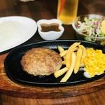 りべるた食堂 - ステーキソースのハンバーグランチ