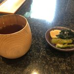 五代目 花山うどん - お茶とお漬物