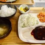 Kitchen Bar 元気食堂 - ハンバーグ定食税込500円!