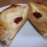 杜のくまさん - ニューヨークチーズクリーム(167円) 断面