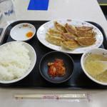 餃子の王将 - 伝統の餃子定食 ミディアム(餃子1.5人前)