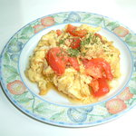 靭公園ムガル - トマトと玉子の炒め物¥380(399)