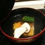 日本料理 銀座 一 - 松茸のお椀