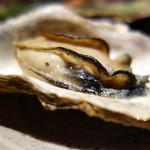 海老の髭 - 牡蠣(お通しの蒸し焼き)