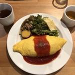 Cafe&Dining zero+ - ランチのオムライス @1000