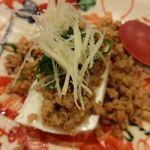 鳥田中 - 地鶏のそぼろ豆腐