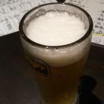 海鮮酒場ぱたぱた - 生ビール