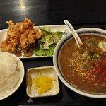 すみれ - 【2011,8,20】 私 白黒ごまタンメン 700円+唐揚げセット350円 御飯大盛り無料