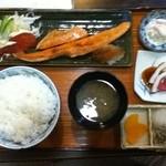 八里九里家 - 鮭ハラス定食  790円  (ご飯大盛+50円)