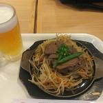 松尾ジンギスカン - 上ラムジンギスカン&生ビール