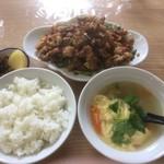 香楽 - レバー定食
