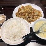 嘉楽料理館 - 日替わり ホイコーロー定食 650円