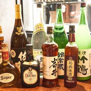 純米酒、7種のレモンサワー、厳選焼酎、お酒も色々揃ってます。