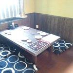 獅子小屋 - 半個室にもなるテーブル席です!