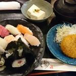 すし旬 - すし定食 大盛 ¥750