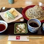 蕎麦処 みかわ - 「季節の地魚天せいろ」1600円+「大盛」200円
