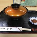 豊福 - 丼は蓋付きで出されます。日本料理の「見せる」「魅せる」演出なんですよ!(2018.9.22)