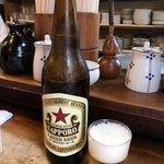 もつ焼 まるい - 瓶ビール