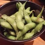 居酒屋 佐香や - 藻塩の枝豆 300円
