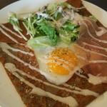 カフェダイニング クリストファーロビン - 半熟卵と生ハムのガレット