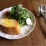 語りばさ - ランチのサラダ&パン